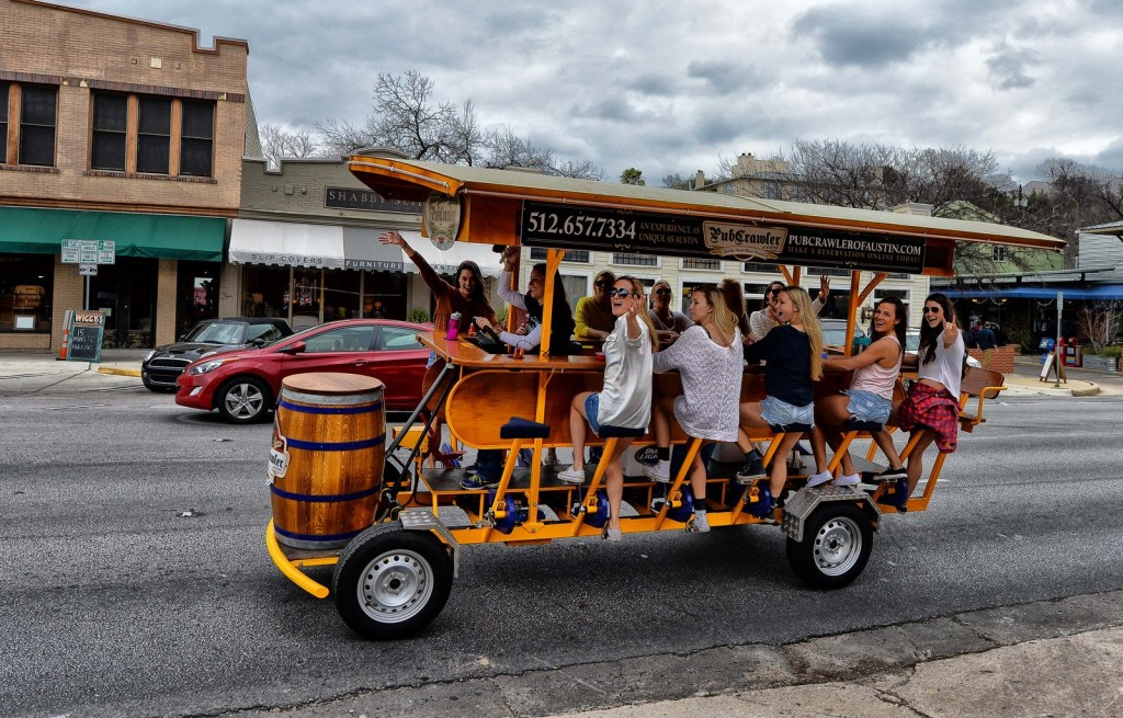 On the roll with Pub Crawler of Austin.