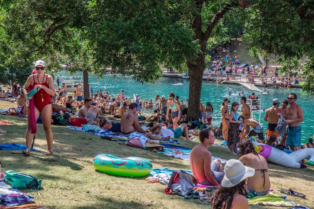 Springs therapy at Barton Springs Pool in Austin, TX.. Photo: Will Taylor - LostinAustin.org