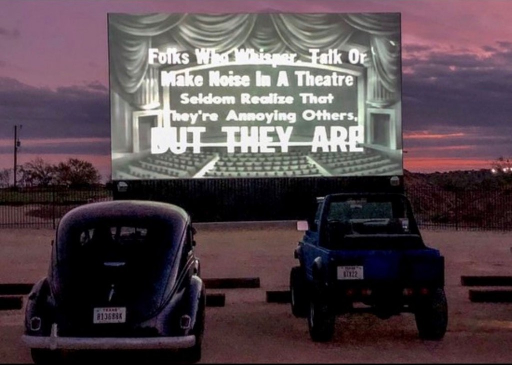 Tuned in at Doc's Drive In Theatre. Photo courtesy Sarah Denny at Doc's Drive In.